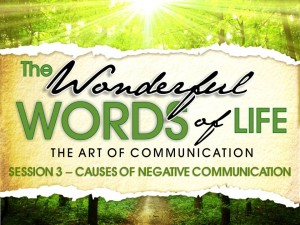 07-23-2014 WED - Wonderful Words of Life - Session 3 -Causes of Negative Communication